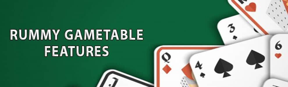 Rummy Game Table Features