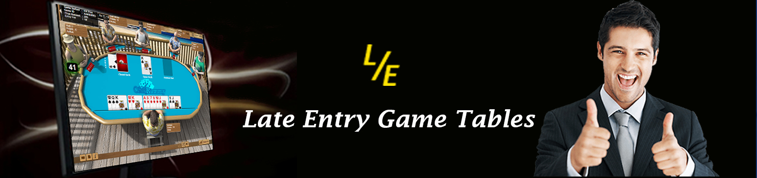 Pool rummy game – late entry feature