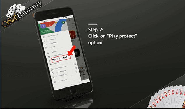 Best Rummy app download at Silkrummy- Click on play protect