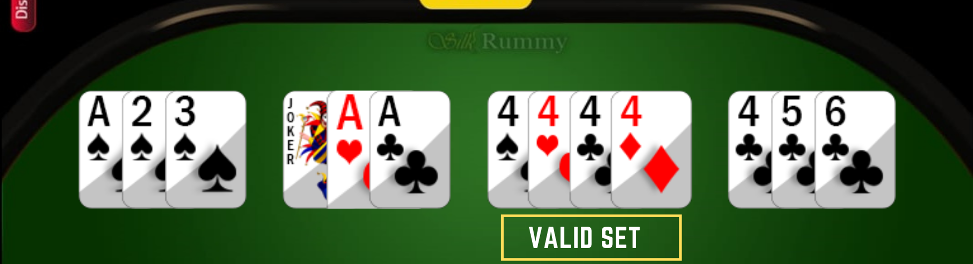 How to Play Rummy- Learn Rummy Rules- Rummy valid set with 4 cards
