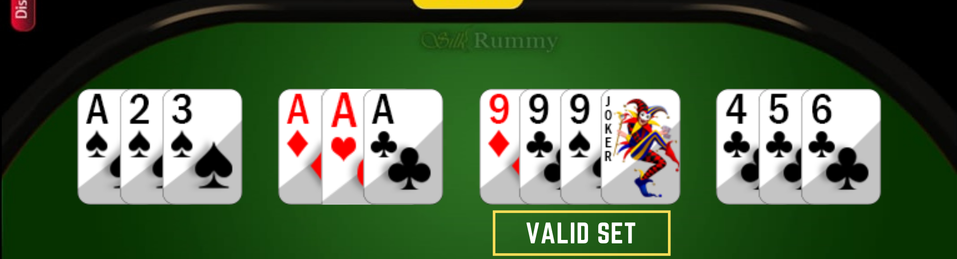 How to Play Rummy- Learn Rummy Rules- Rummy valid set with printed joker