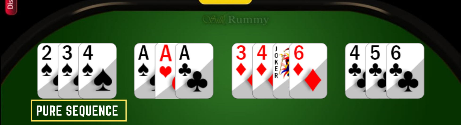 How to play Rummy rules- Rummy Pure Sequence with 3 cards