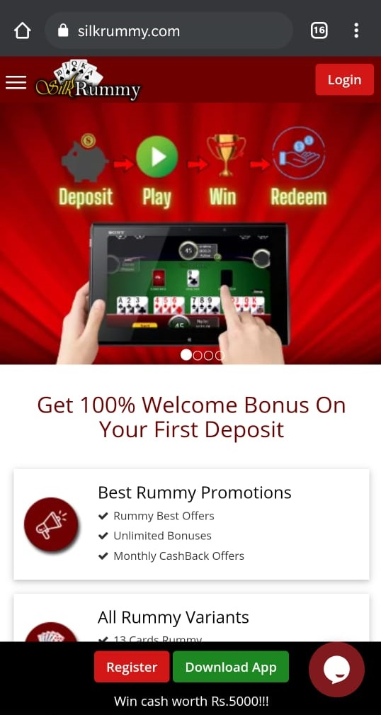To invite your circle of rummy friends open silk rummy website